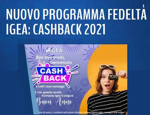 FARMACIA IGEA CASHBACK 2021